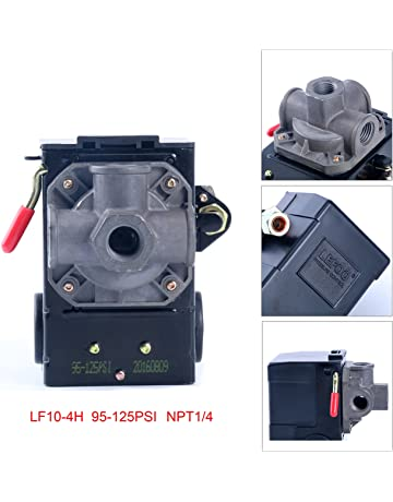 Lefoo Quality Air Compressor Pressure Switch Control 95-125 PSI 4 Port w/ Unloader