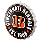 Cincinnati Bengals NFL Bottle Cap Wall Sign