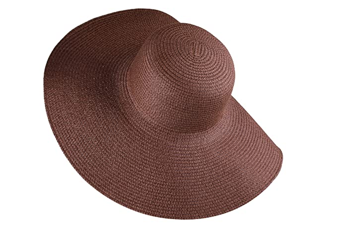 Dark Brown Sun Hat Floppy Beach Hat Wide Brimmed foldable Hat for Women at  Amazon Women s Clothing store  2ca8d22f97b