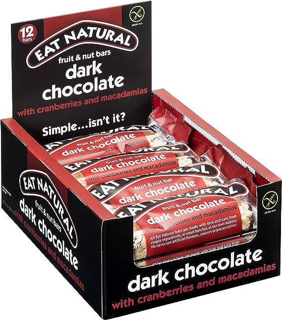 Eat Natural Barrita de Chocolate Negro, Arándanos y Macadamia ...