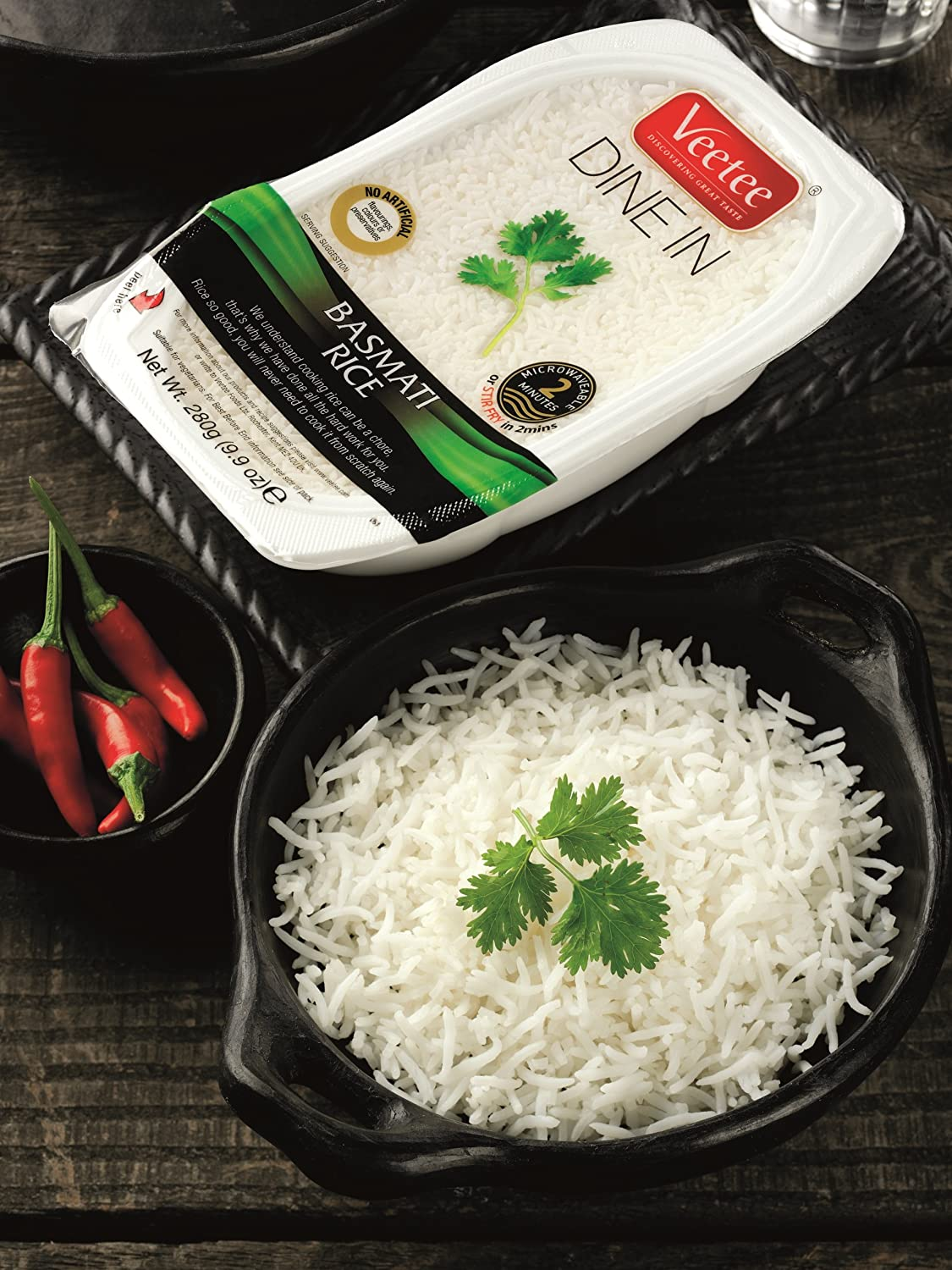 Amazon : Veetee Dine In Rice  Basmati  Microwavable Rice, Ready In 2  Minutes  99 Oz : Grocery & Gourmet Food