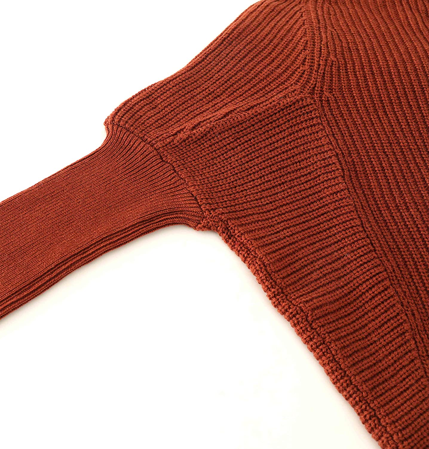 Liny Xin Womens Oversized Chunky Winter Wool Half Turtleneck Batwing Sleeve Knitted Pullover Sweater