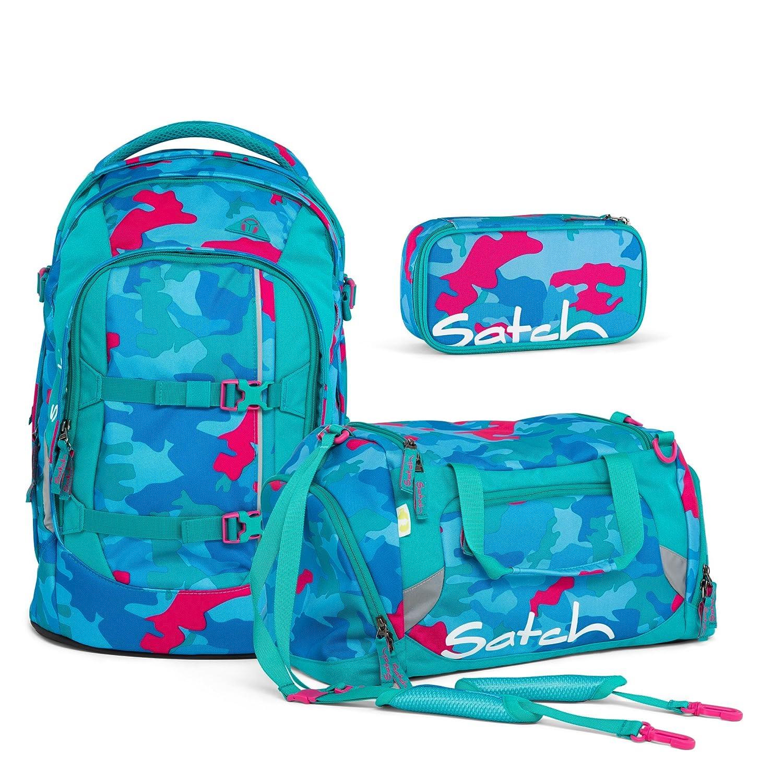Satch Pack by Ergobag Caribic Camou 3 tlg. Set Schulrucksack