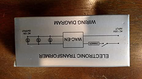 wac 12 volt 100 watt low voltage transformer amazon com rh amazon com 480 Volt Transformer Wiring Diagram Single Phase Transformer Wiring Diagram