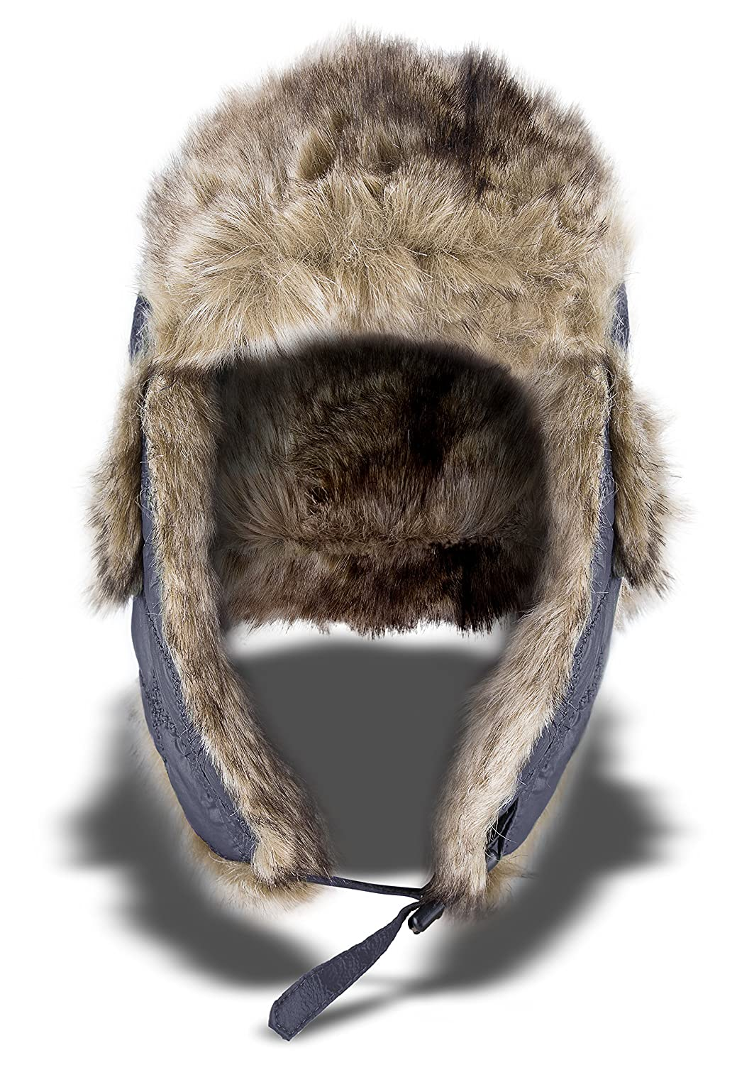 noorsk Aviators Cap Winter Hat or Faux Fur Lined Trapper Hat With Faux Fur