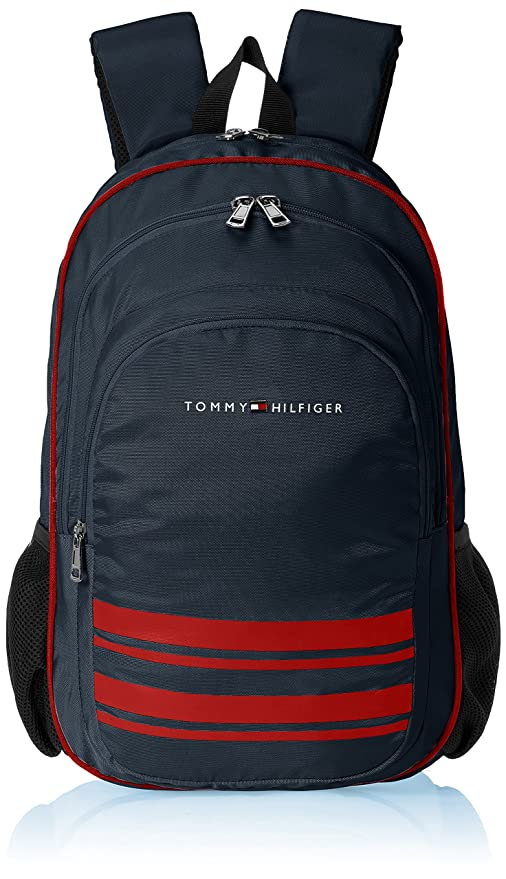 5b273f76 Image Unavailable. Image not available for. Colour: Tommy Hilfiger Latin  Polyester Navy Blue Children's Backpack ...