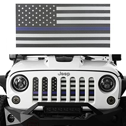 Amazon.com: opar Front US American Flag Grille Mesh Insert for 2007 ...