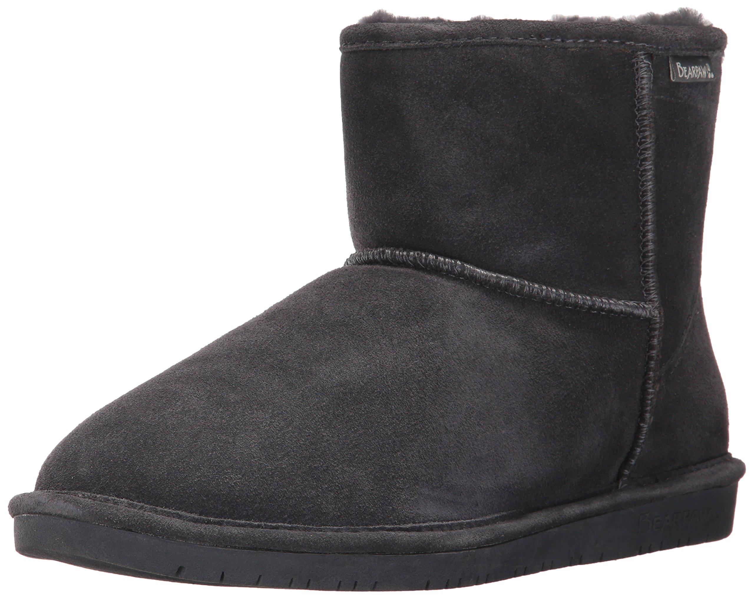 BEARPAW Women's Demi Fashion Boot, Charcoal, 12 Medium US