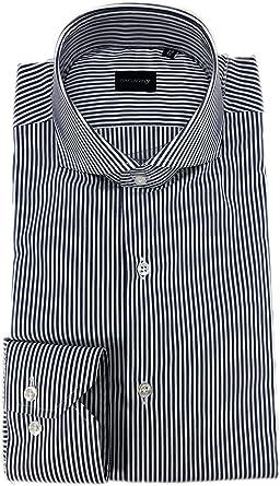 Bagariny Camisa Hombres Sartorial algodón Stretch Slim fit ...