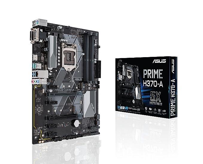 Asus Intel H370 LGA-1151 ATX - Placa con iluminación LED ...