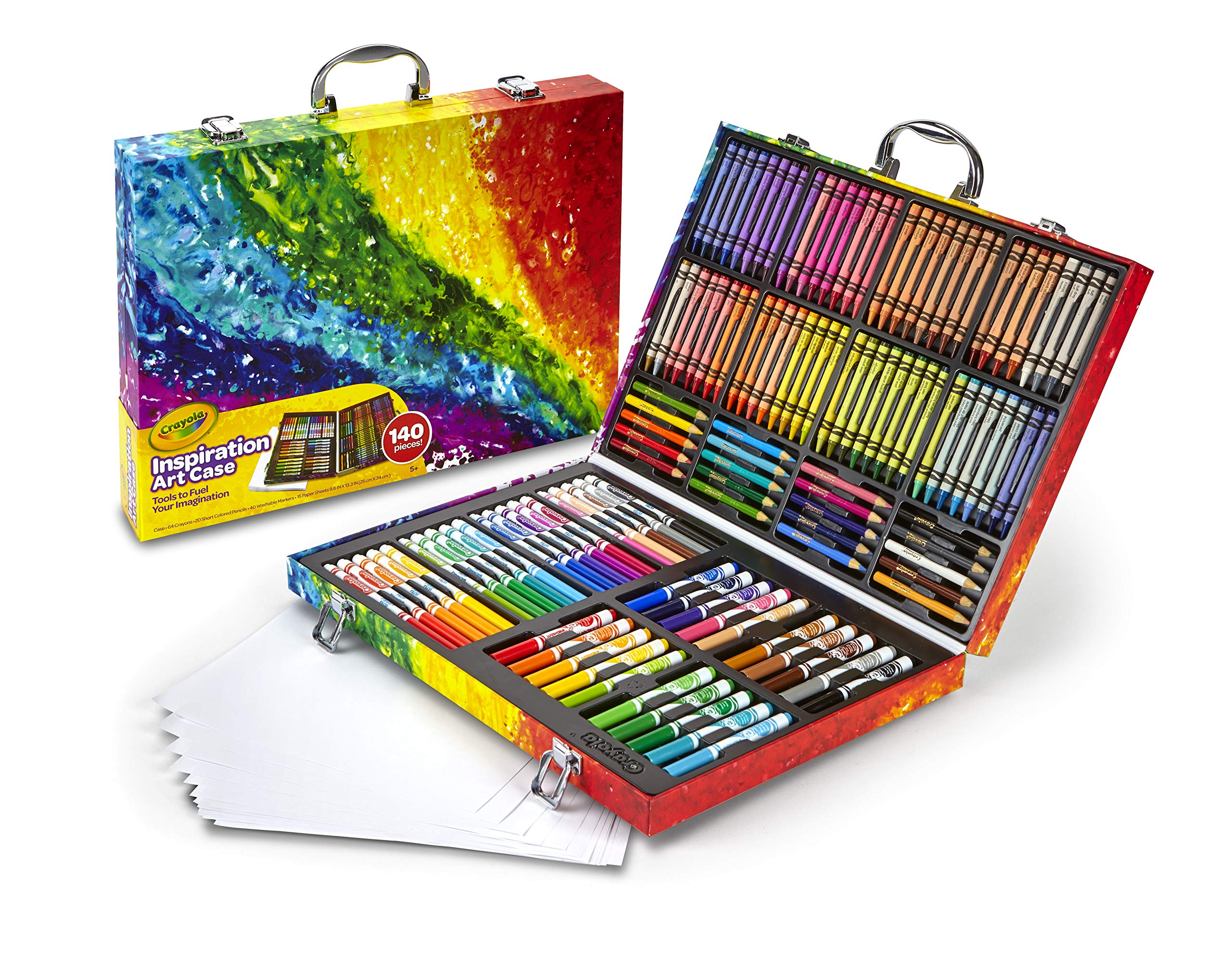 Crayola Inspiration Art Case: 140 Pieces, Art Set, Gifts for Kids, Age 4, 5, 6, by Crayola (Image #3)