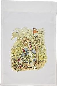 3dRose fl_110164_1 Peter Rabbit in The Garden Vintage Art Garden Flag, 12 by 18-Inch
