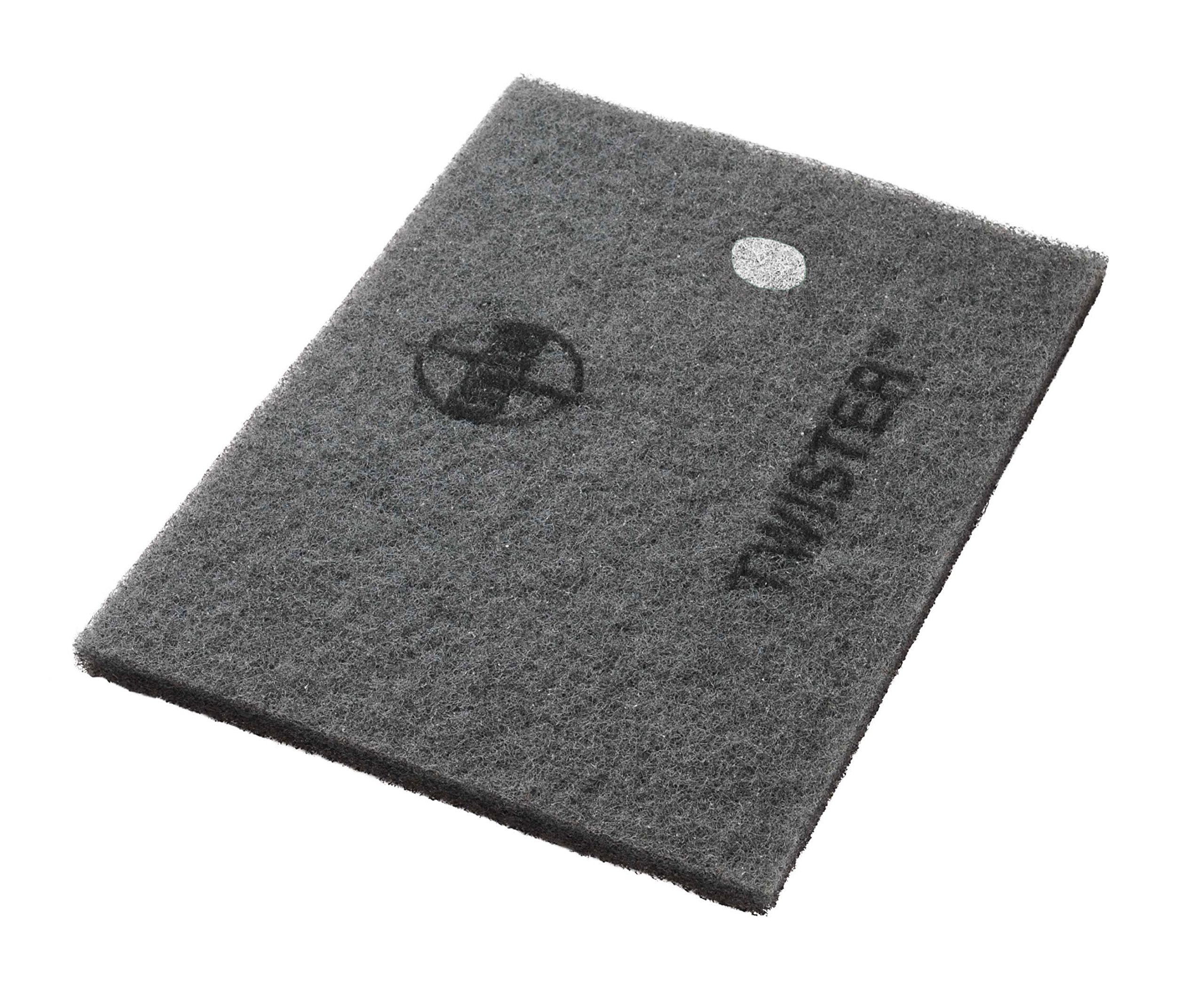 Twister Diamond Cleaning System 14'' x 28'' White Floor Pad - 800 Grit - 2 per case
