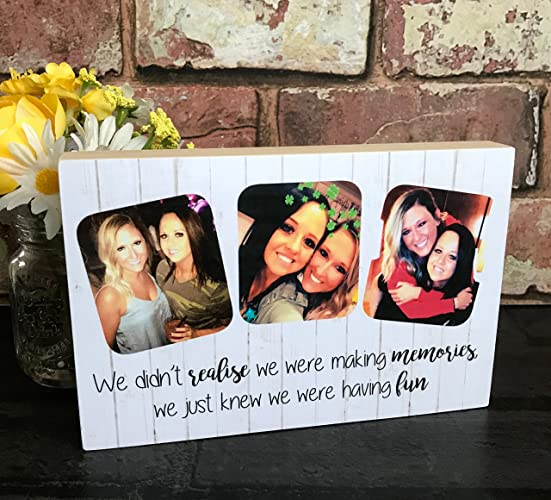Making Memories Photo Gift Best Friend Birthday Funny Quote Photography Block