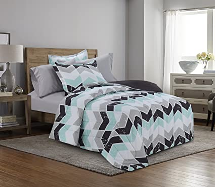 stripes bedding comforter chevron wheretoget bedcover hipster bed home mint l quilt accessory look