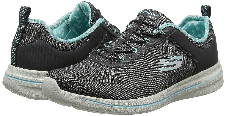 Skechers Damen Schwarz Burst 2.0-Sunny Side Ausbilder, Schwarz Damen Grau (Charcoal/Blau) f9fbc6