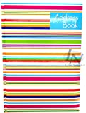 A-Z A5 Telephone Contact Address Book Hardback Designer Colourful Stripes Design