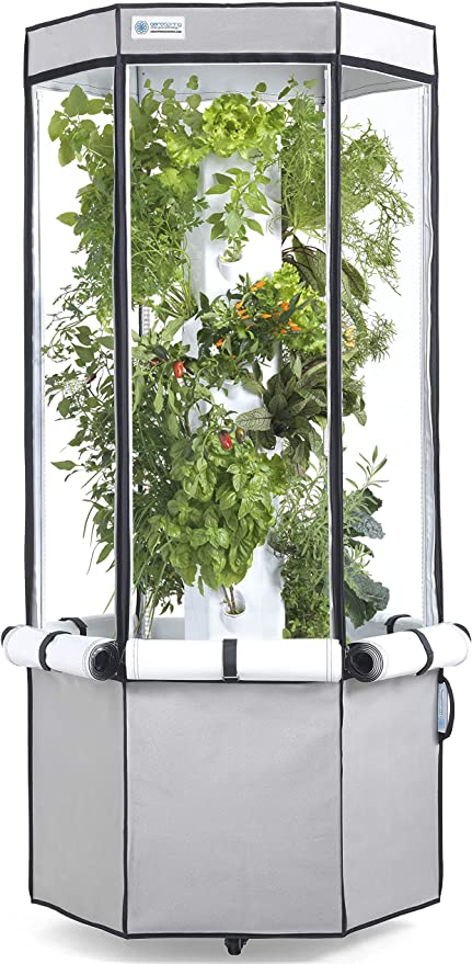 Amazon Com Aerospring Indoor Hydroponic System Tower Tent Leds And Fan 27 Plant Grow Kit Garden Outdoor