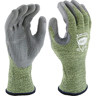 West Chester IRONCAT 6100 Metal Tamer TIG Welding Gloves 1 Pair Large Material Used Fire Resistant Silicone Coated Palm Knit Welder Safety Wear: Industrial & Scientific