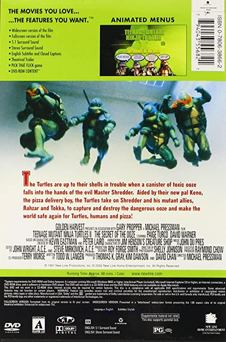 Teenage Mutant Ninja Turtles 2: Secret of Reino Unido DVD ...