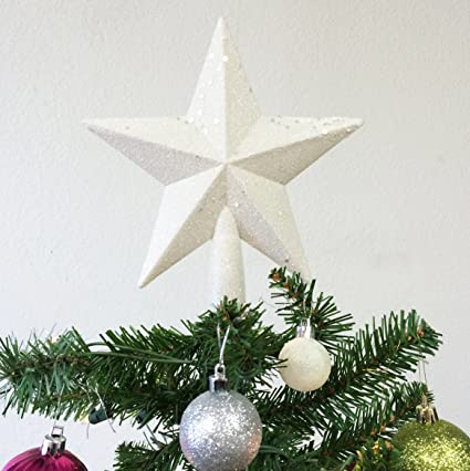 Sparkling Rose Gold Shatter Resistant Plastic Perfect For Any Size Christmas Tree Pepperlonely 8 H Rose Gold Star Christmas Tree Topper Christmas Decor Tree Toppers