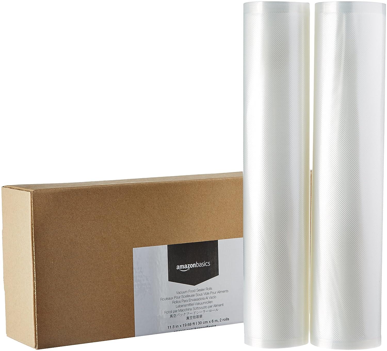 AmazonBasics - 2 rollos para sellar al vacío, 30 cm x 600 cm ...