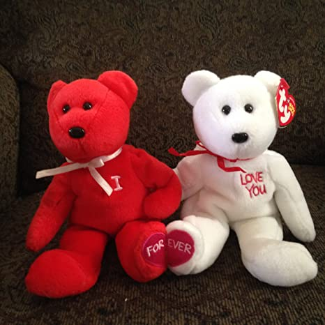 Amazon.com  TY Beanie Babies - I LOVE YOU the Bears (set of 2)  Toys ... 8eb340fd6bab