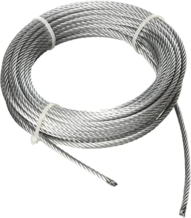 Haul Master 69804 50 Ft X 3 16 In Aircraft Grade Wire Rope Amazon Com
