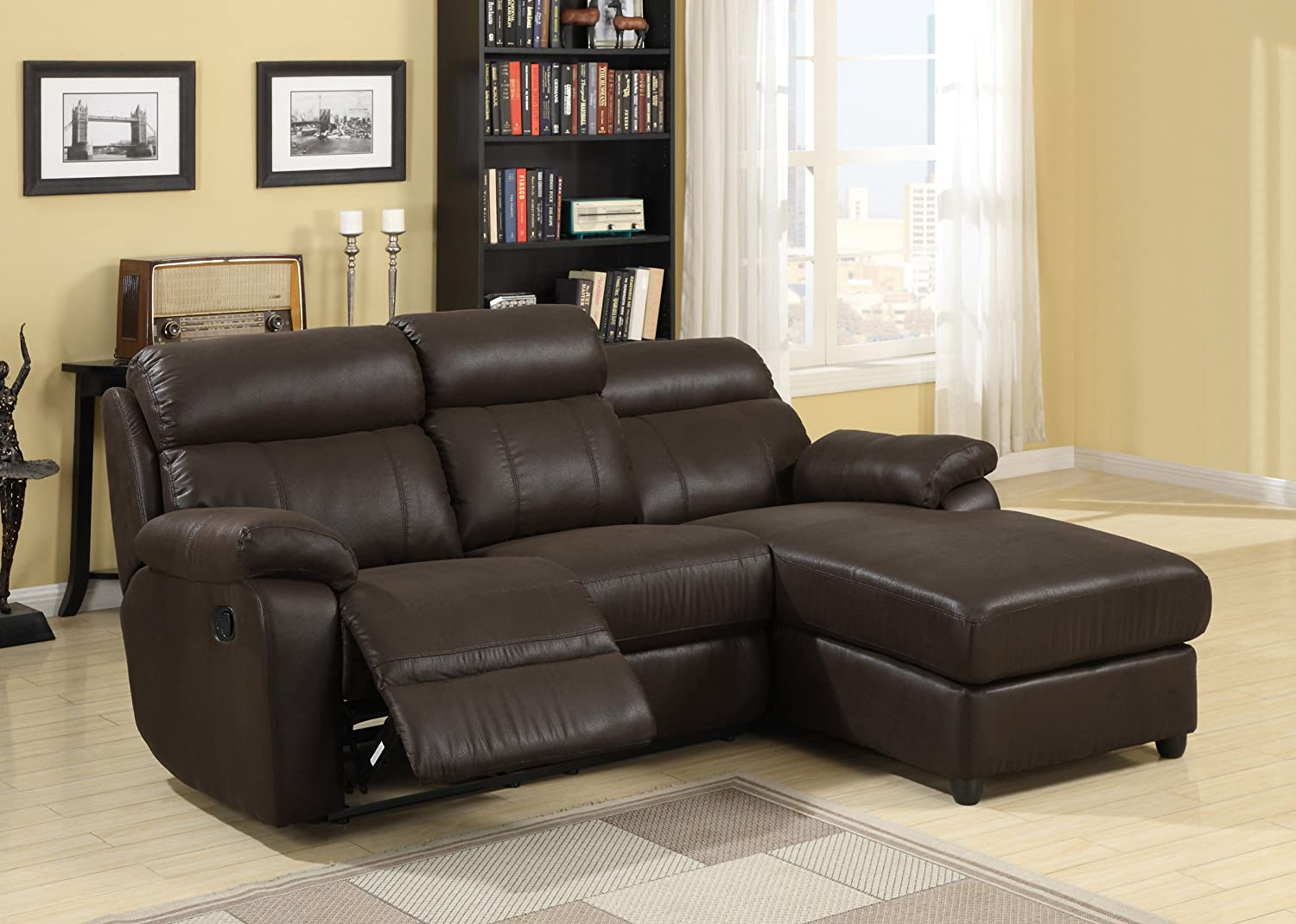 Amazon.com: Homelegance Gaines 9609 2-Piece Sectional Sofa ...