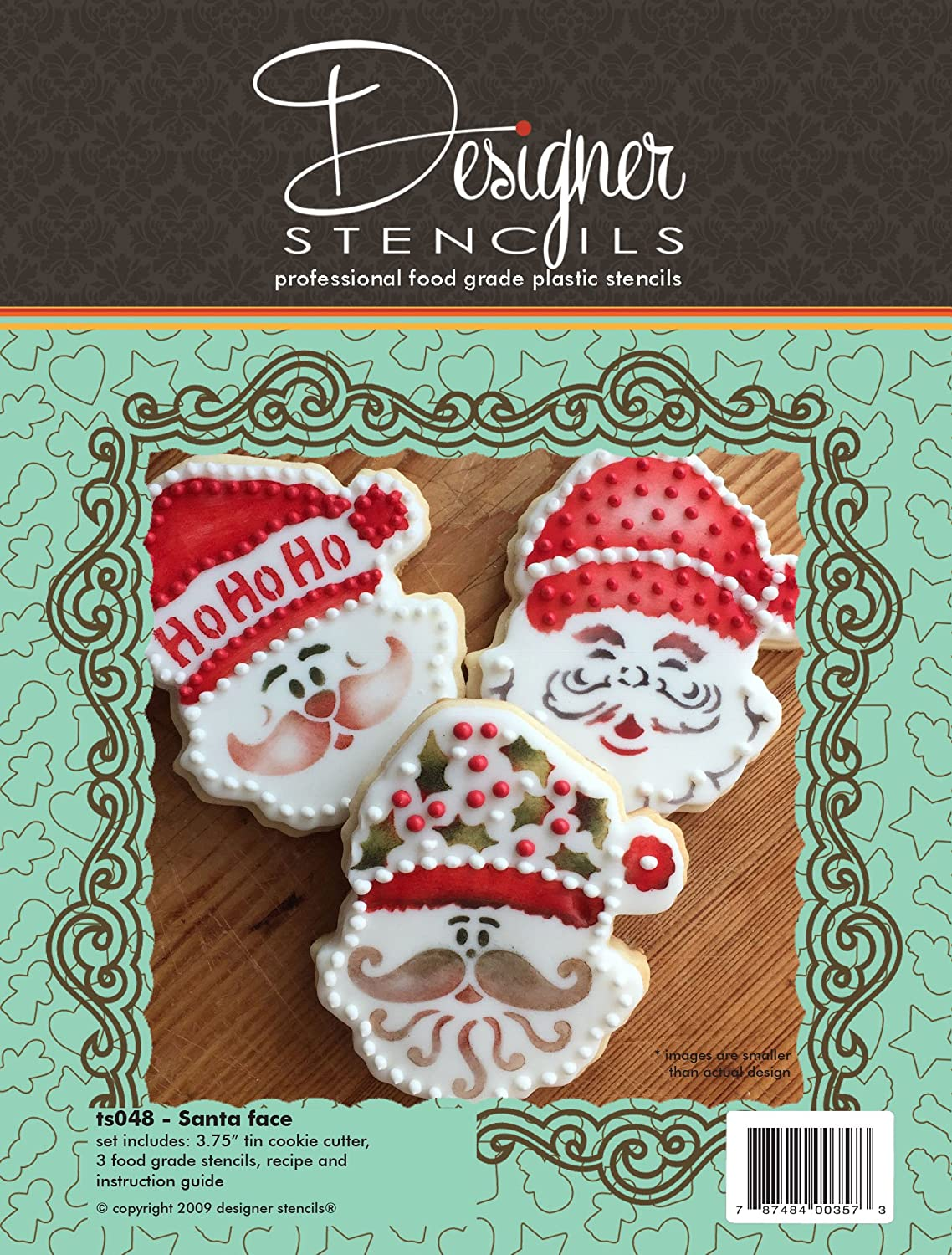 Amazon Santa Face Cookie Cutter And Stencil Set By Designer
