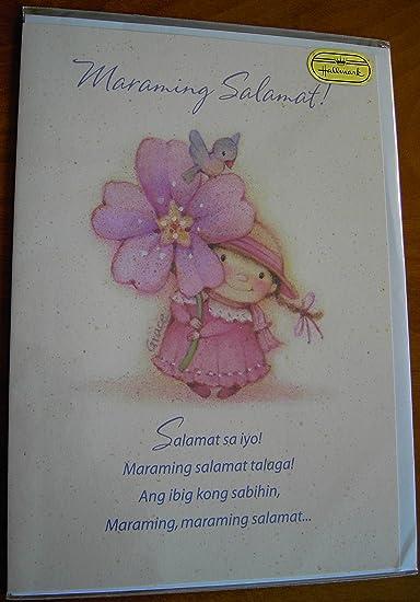 tagalog filipino thank you card girl