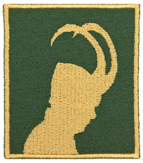 Amazon.com: Norse God Loki Casco de Horned bordado hierro en ...