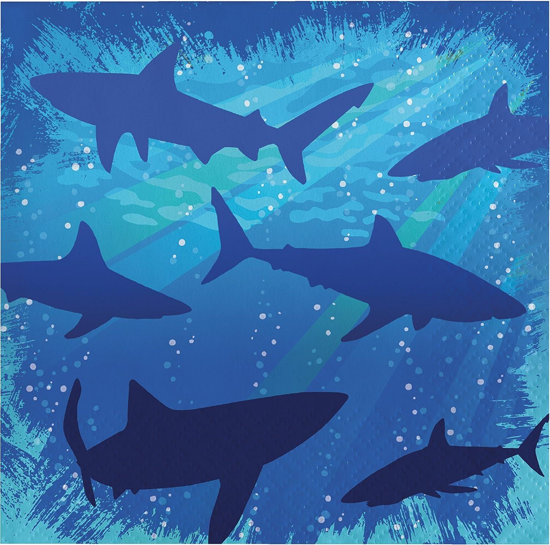 Shark Splash Beverage Napkins, 48 ct