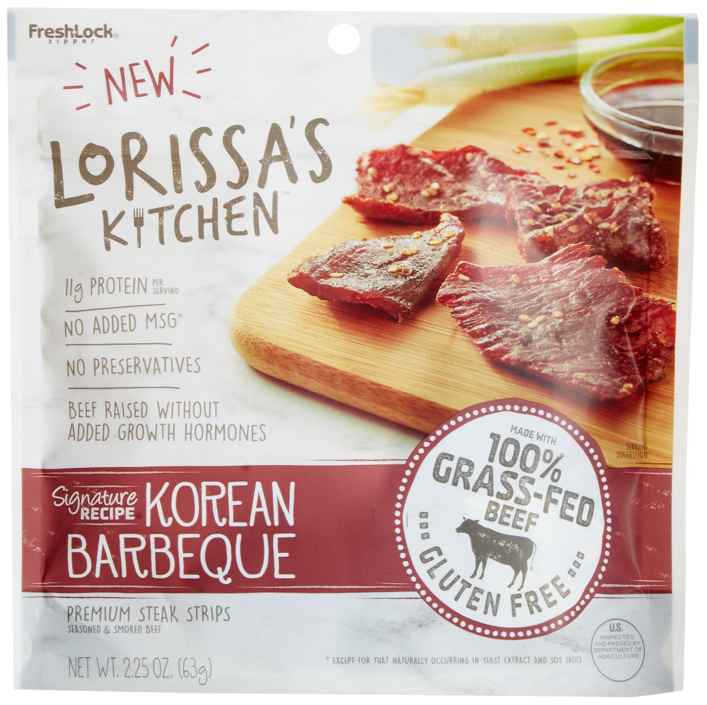 Lorissa's Kitchen Premium Steak Strips, Korean Barbeque, 2.25 Ounce (Pack of 4)