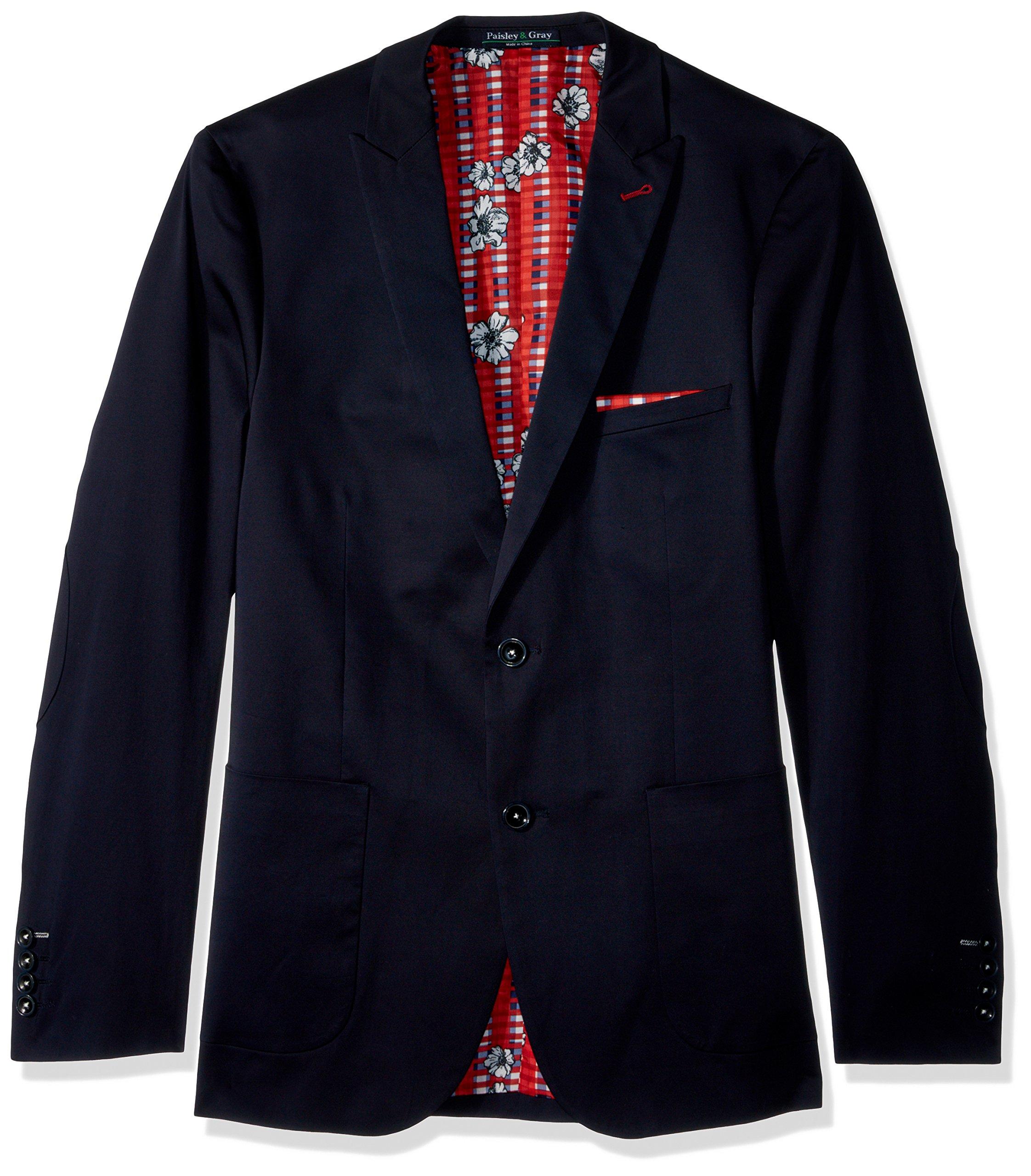 Paisley & Gray Men's Ashton Slim Fit Sportcoat, Navy, 36R