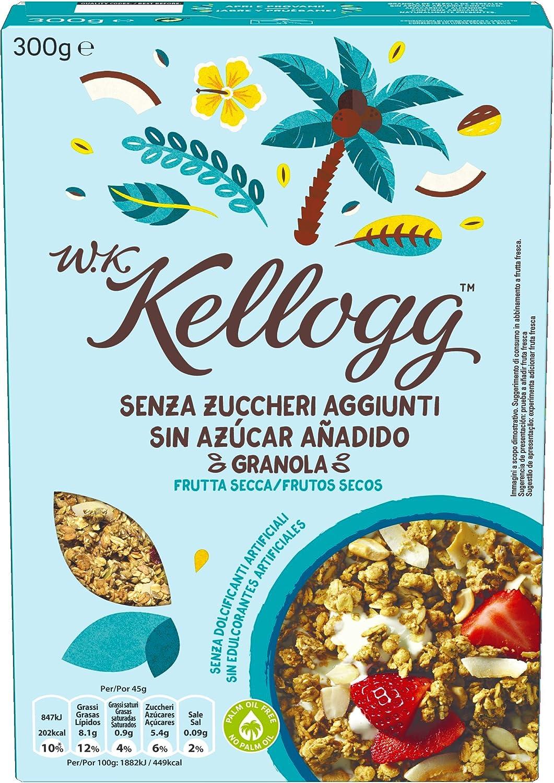 W.K Kellogg Sin Azúcar añadido Frutos secos Cereales - 300 g ...