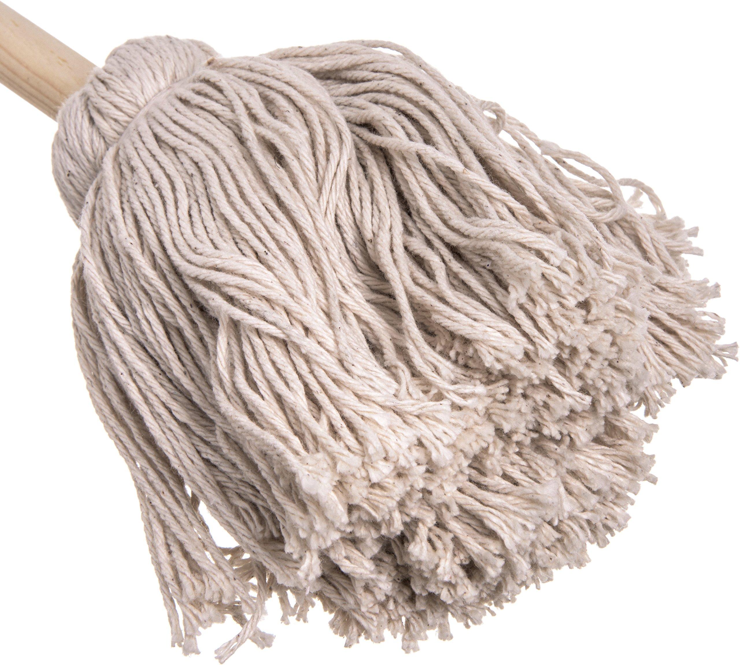 Carlisle 3623200 Cotton Barbecue Basting Mop, 10'', Natural