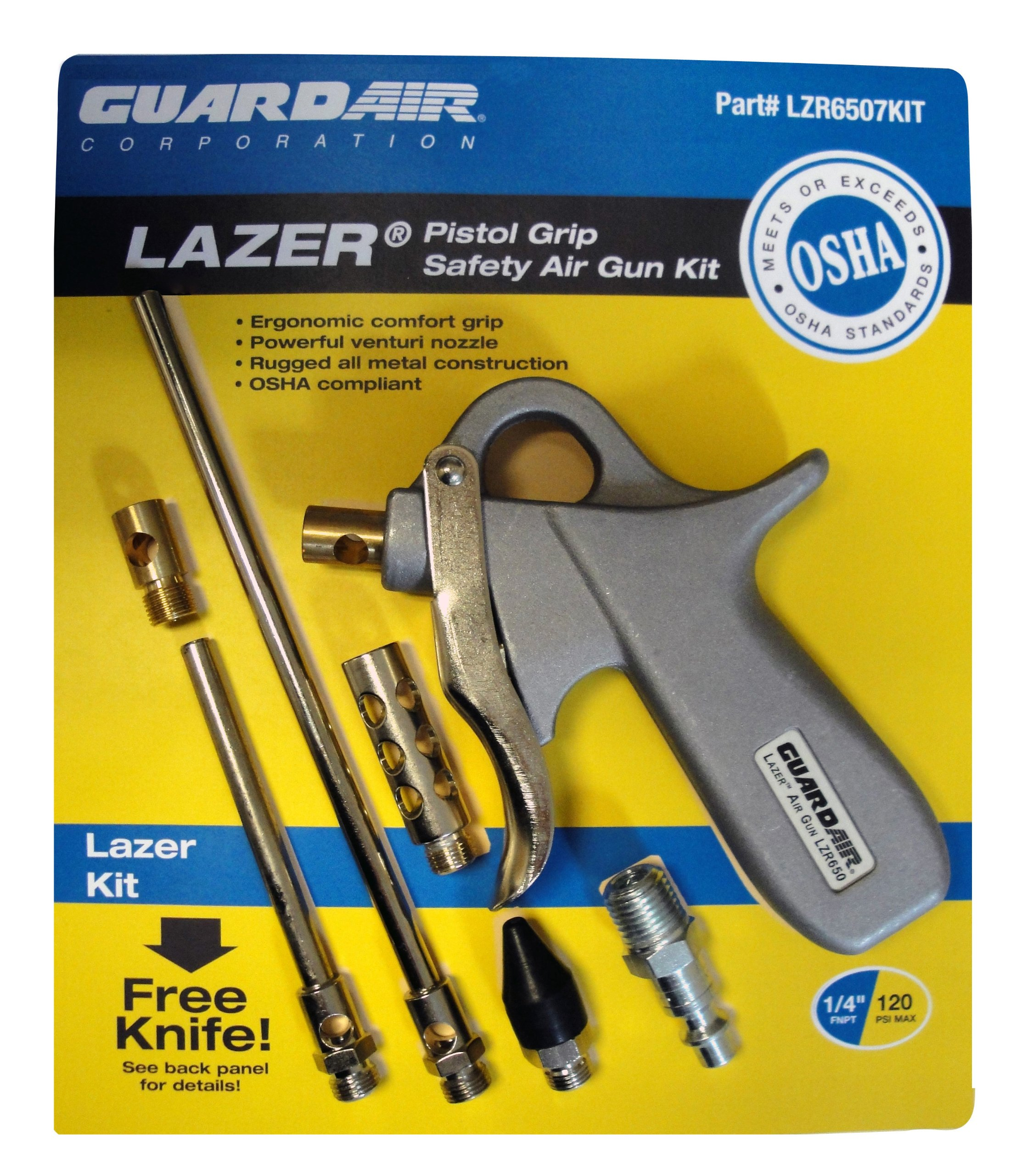 Guardair LZR6507KIT Lazer Pistol Grip Safety Air Gun Kit