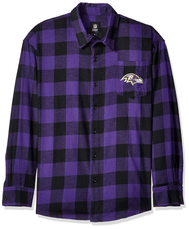 FOCO NFL メンズ ラージ チェック フランネルシャツ チームカラー Large