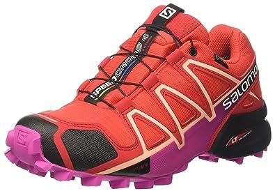 brand new ad12a ffe66 SALOMON Speedcross 4 GTX W, Chaussures de Trail Femme, Rouge (Poppy Red