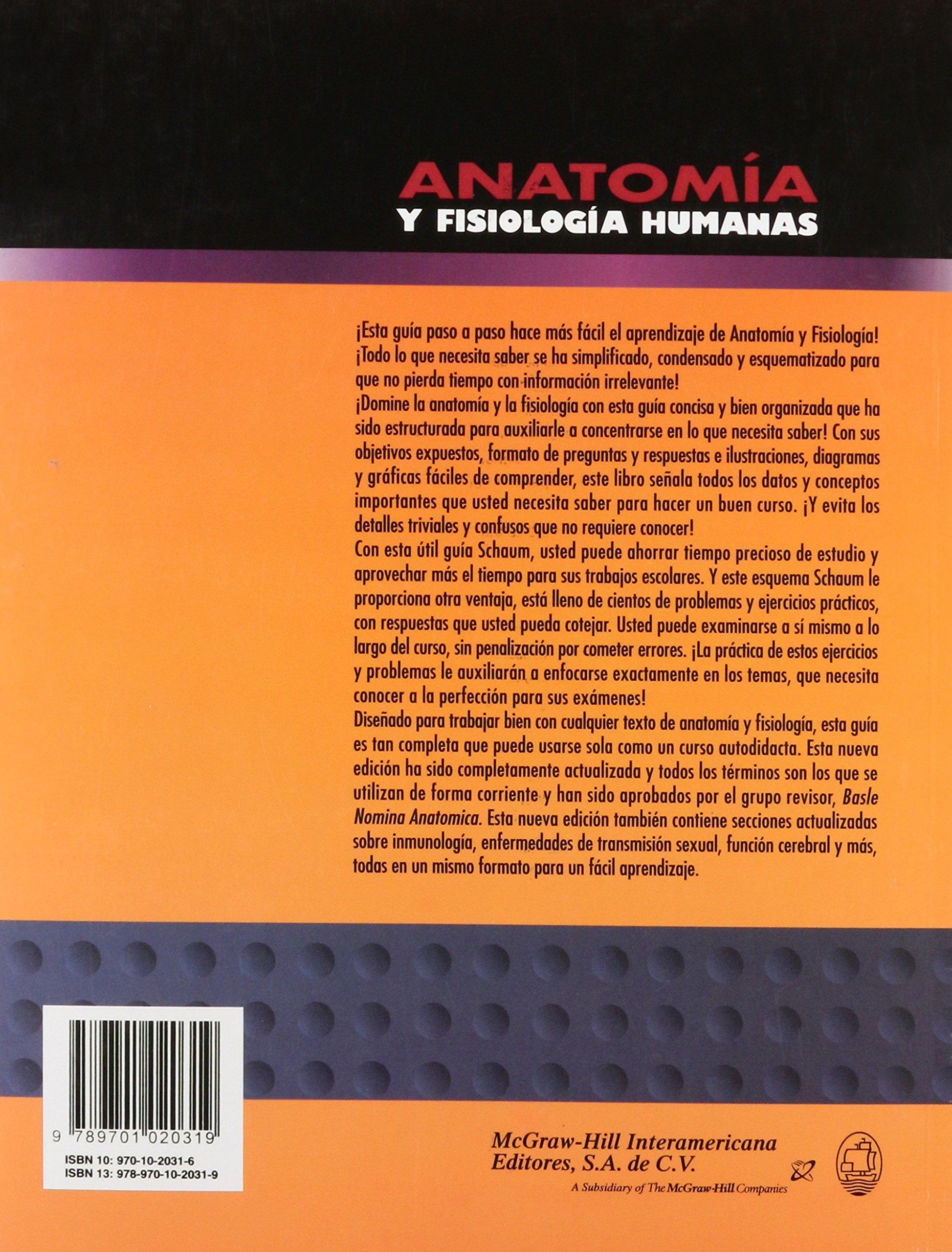 Anatomia Y Fisiologia Humanas: Van De Graaff: Amazon.com.mx: Libros