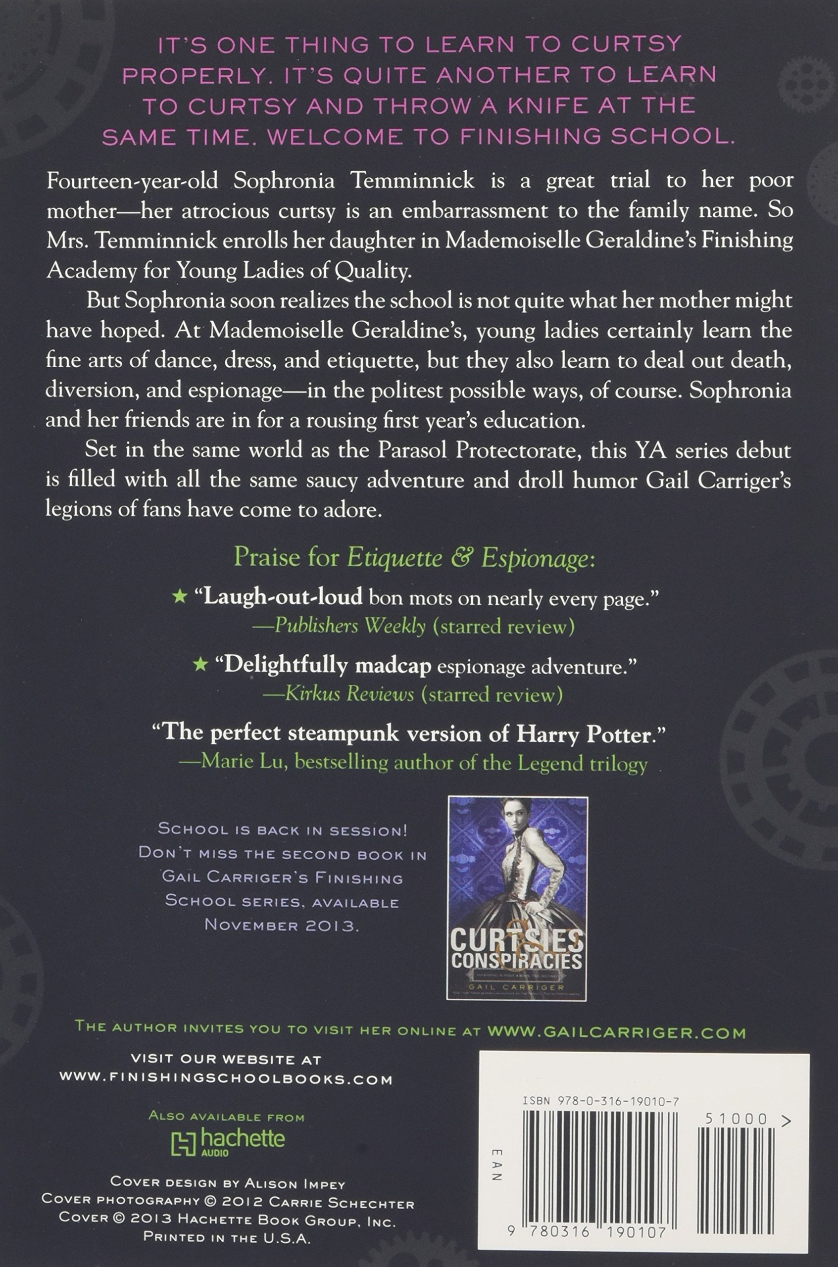 Amazon: Etiquette & Espionage (finishing School) (8601200897647): Gail  Carriger: Books