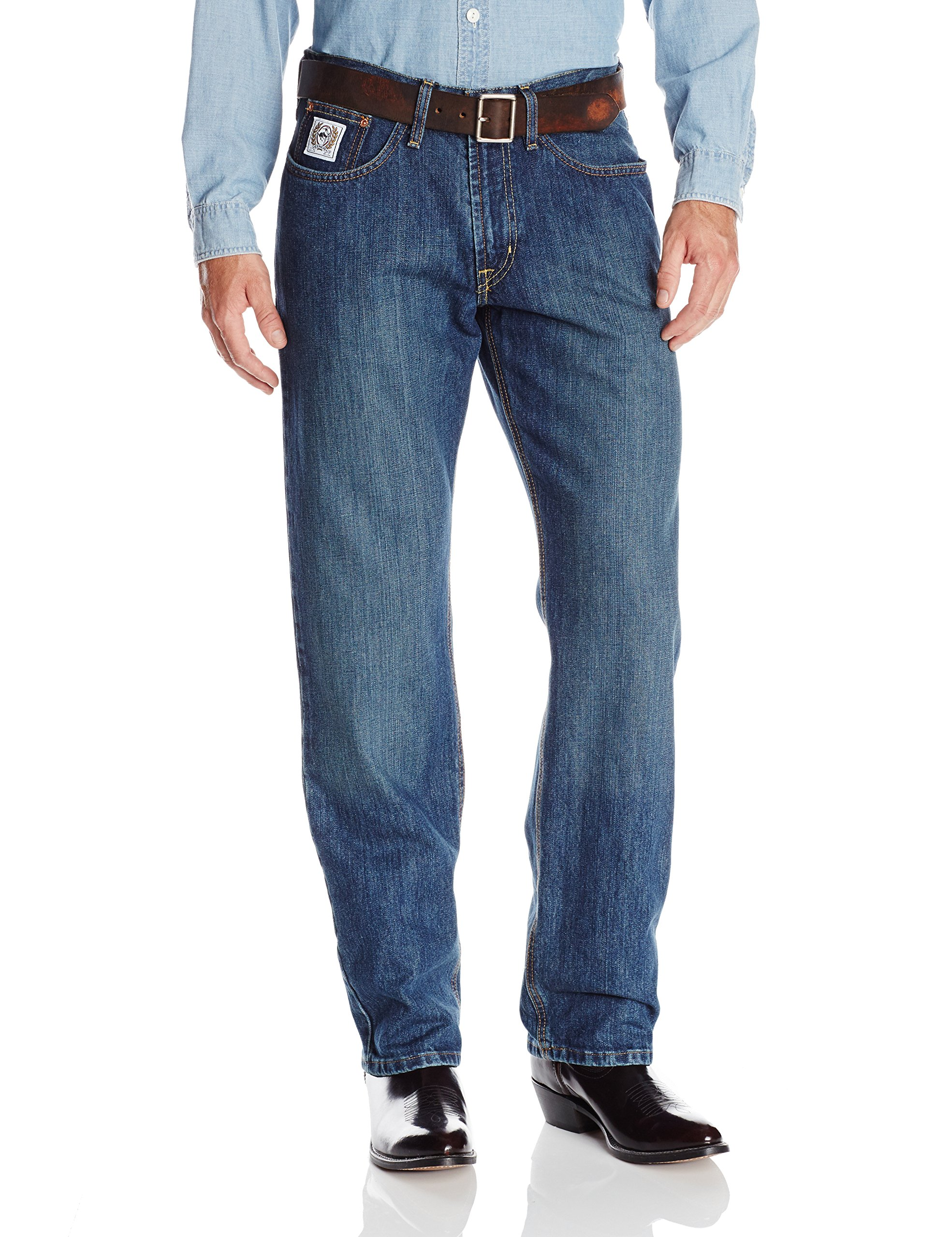 Cinch Men's White Label Relaxed Fit Jean,  Dark Wash, 32W x 34L