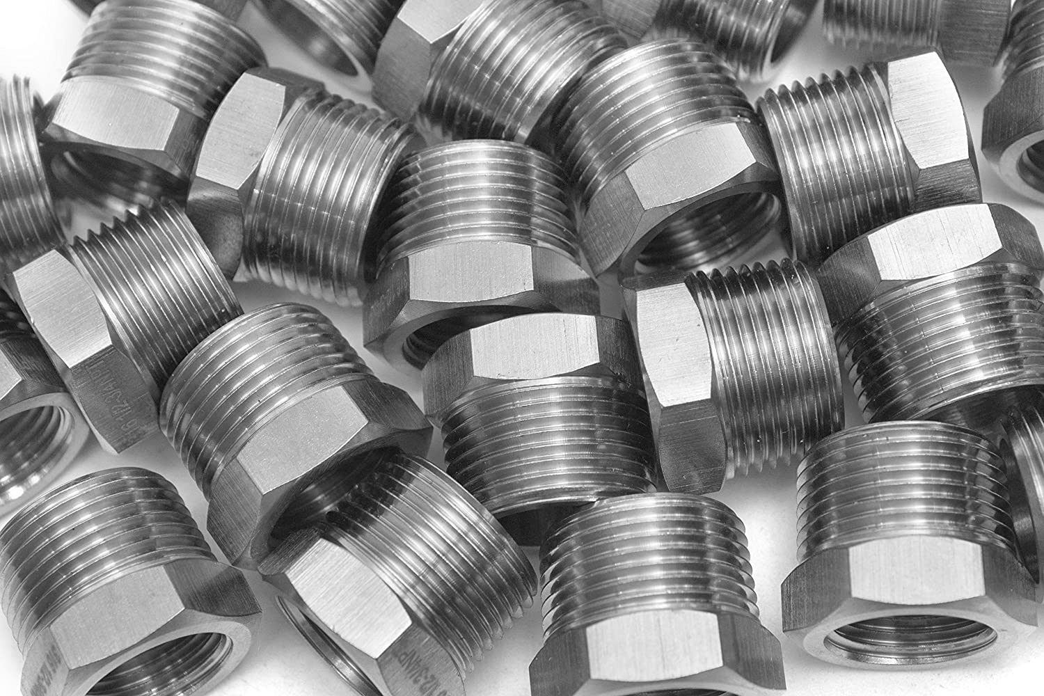 Generic Bar Production Stainless Steel 316 Pipe Hex Bushing Reducer Fittings 3/8 Male x 1/4 Female NPT Fuel Water Boat (Pack of 5) HuaxinYicheng Trade Co. Ltd.