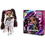 LOL Surprise OMG Remix Honeylicious Fashion Doll, Plays Music with 25 Surprises Including Shoes, Hair Brush, Doll Stand, Maga