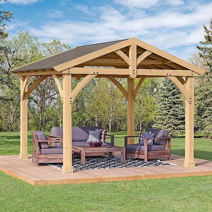 Amazon com : Yardistry Structures Pre-Stained Premium Cedar