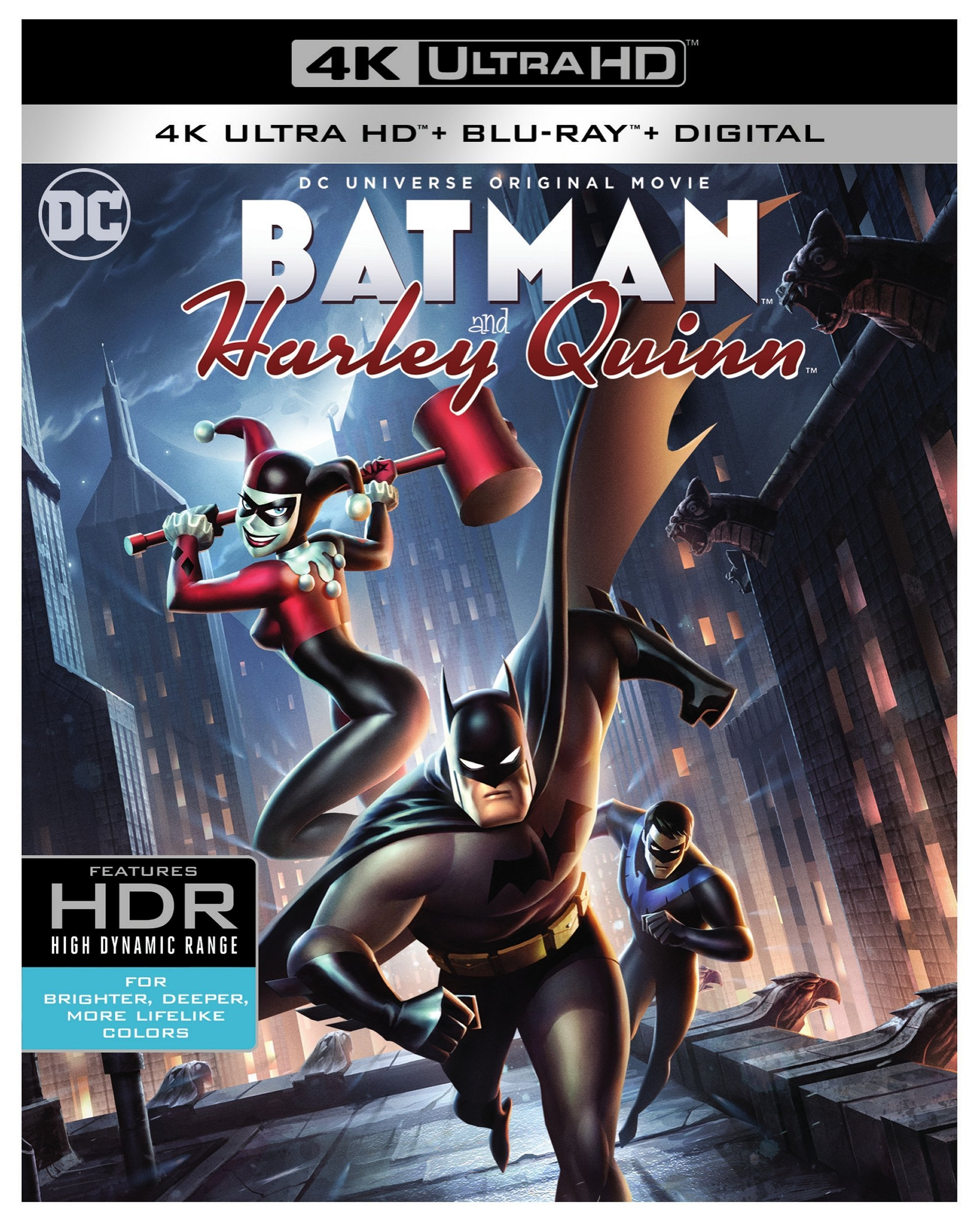 4K Blu-ray : Batman and Harley Quinn (With Blu-Ray, 4K Mastering, 2 Pack, 2 Disc)