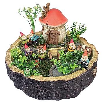 Design Toscano Garden Gnome Statue   Tiny Forest Friends   Gnome House    Fairy Garden
