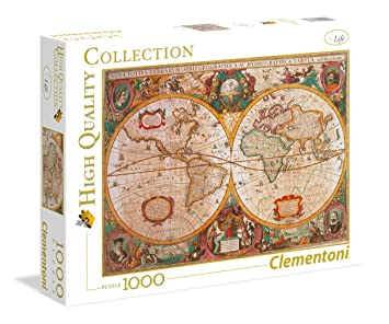 Clementoni 1000 piece puzzle old world map jigsaw puzzles amazon clementoni 1000 piece puzzle old world map gumiabroncs Gallery