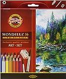 Koh-I-Noor Mondeluz - Lápices de colores acuarelables (36 unidades)
